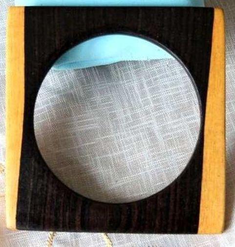 Bracelet ébène forme carré deux tons BEF8