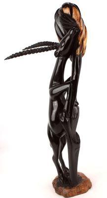 Statuette antilope en bois ébène 5724-S4Y-592