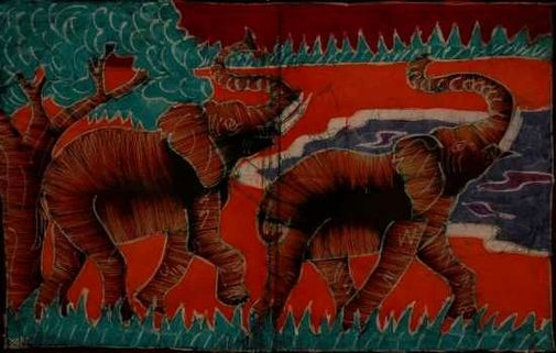 Batik demi moyen modèle - animaux