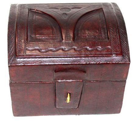 Boîte rectangulaire art Touareg en cuir BBR7
