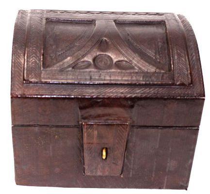 Boîte rectangulaire art Touareg en cuir BBR9