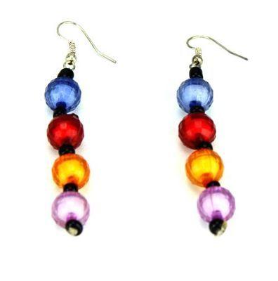 Boucle d'oreille artisanal en perles