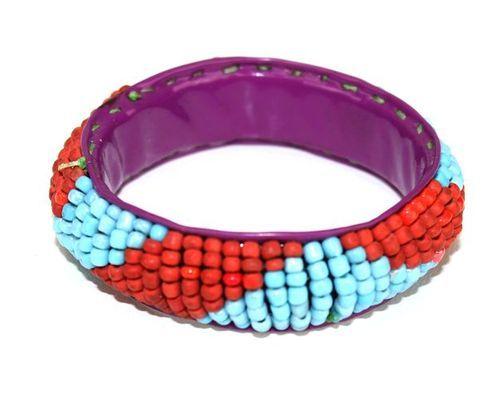 Bracelet large artisanal  enfant en perles