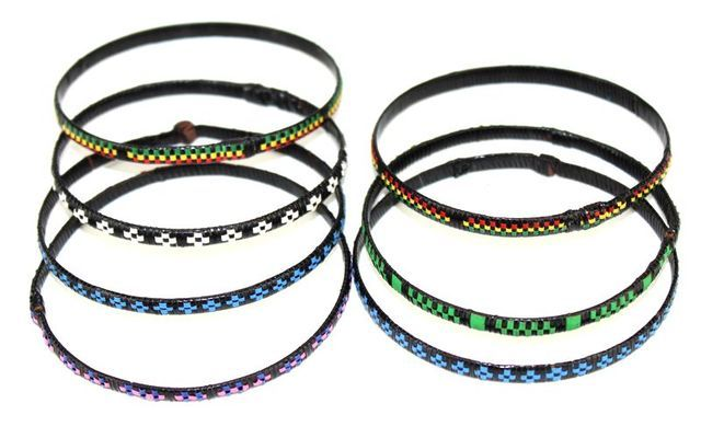 Lot de 7 bracelet nattés du Sénégal
