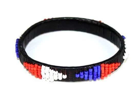 Bracelet  africain en perles couleurs