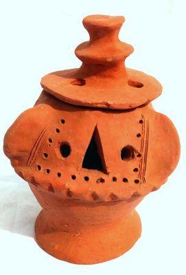 Brule encens en terre cuite du Sénégal 3467-AX-218