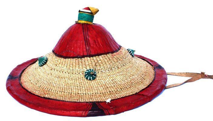 Chapeau tingado paille et cuir