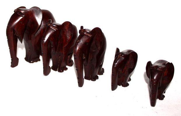 Troupe éléphants marron TREM1