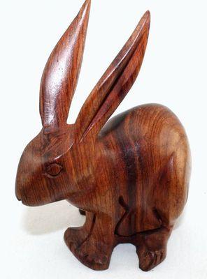 Lapin en bois Teck 3868-AX-344