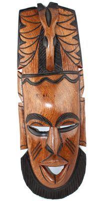 Masque bicolore en bois teck 0267-A