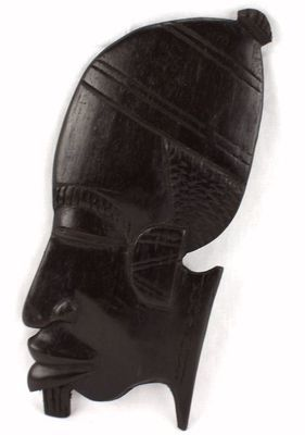 Masque déco mural couleur youbo en bois teck 3442-AX-20