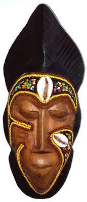 Masque-passeport baoulé en es Perles MAPP-A2