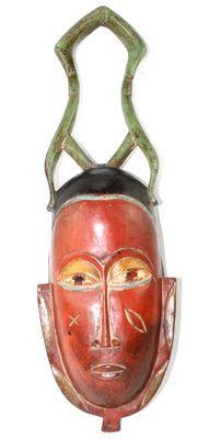 Masque Gouro ancien de côte d'ivoire-7842