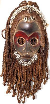Masque DAN ancien de côte d'ivoire-7865