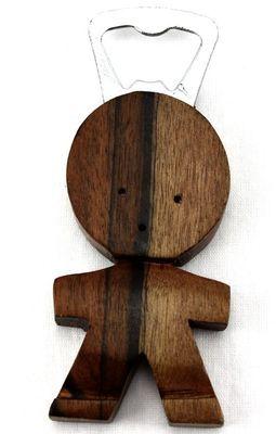 Ouvre bouteille bois ébène motif Statuette