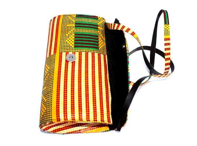 Pochette sac à main en wax africain
