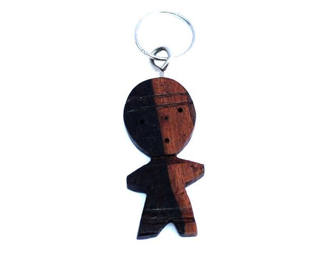 Porte clé en bois ébène fécondité