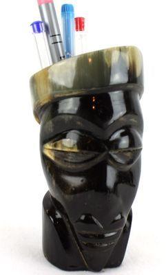 Pot crayon en corne décoratif 6473-S4X-520