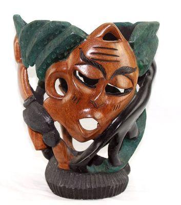 Socle pot en bois décoratif multi-tons 5953-S4Y-633