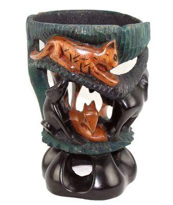 Socle pot en bois décoratif multi-tons 5962-S4Y-631