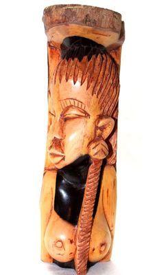 buste femme en bois ébène 5549-SAX-407