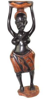 Statuette femme porteuse calebasee 5739-S4Y-575