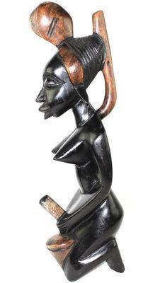 Statuette femme en bois d'acacia 0143-A