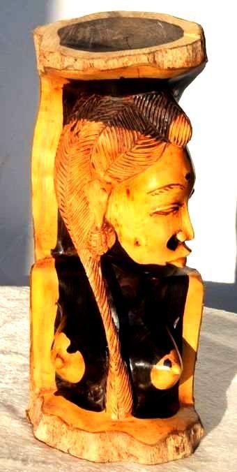 Statuette buste femme en ébène BFE4