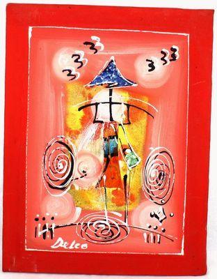 Tableau peint sur tissus 8670-A