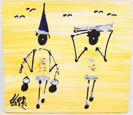 Tableau peint sur tissus 8389-A