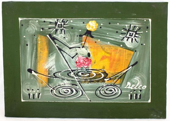 Tableau  peinture sur tissus MTAR1