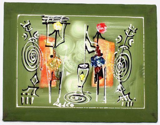 Tableau  peinture sur tissus MTAR9