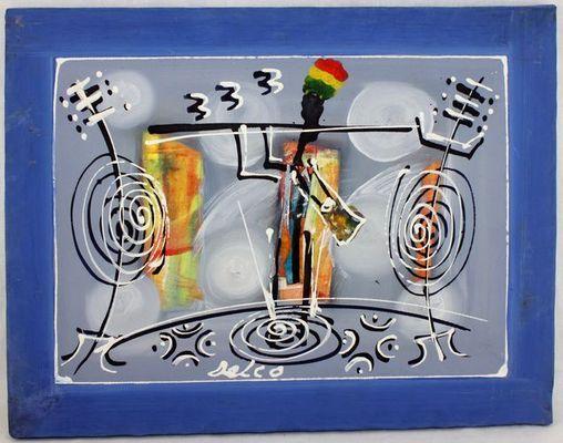 Tableau peint sur tissus 8409-A