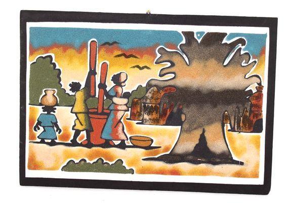 tableau art sable 3854-AX-335