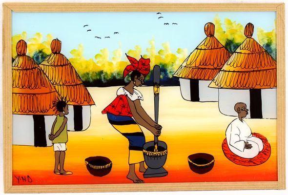 tableau sous verre  du Sénégal 3698-AX-301