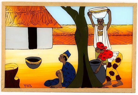 tableau sous verre  du Sénégal 3697-AX-300