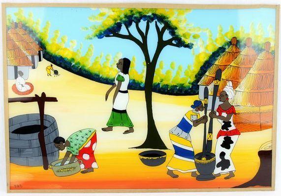 tableau sous verre  du Sénégal 3733-AX-308