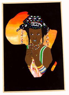 tableau sous verre  du Sénégal 3761-AX-309