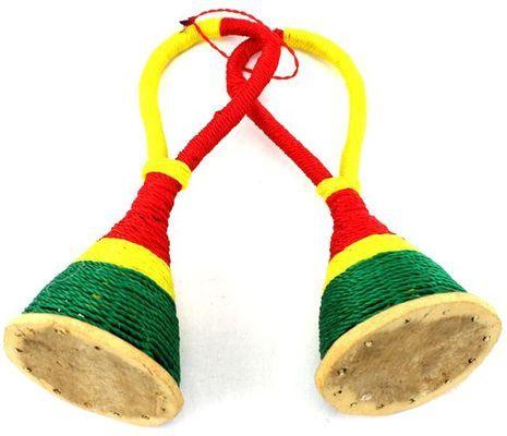 Paire de késé késé. Instrument de musique africaine à secouer 6356S4X-547