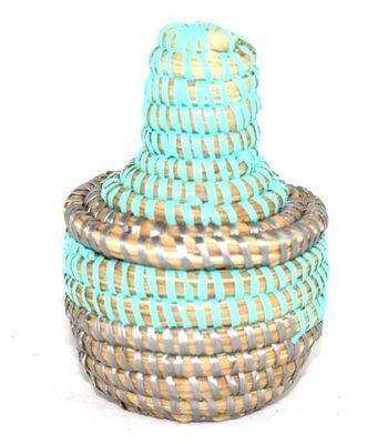 boîte bijoux en paille tressée 3990-BX-55