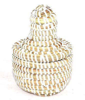 boîte bijoux en paille tressée 3986-BX-51