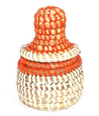 boîte bijoux en paille tressée 1682-A