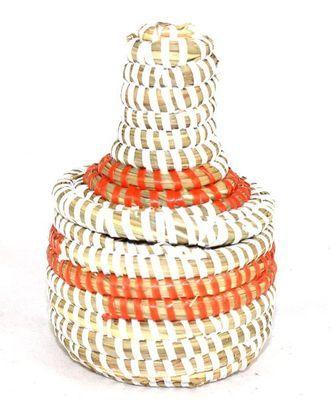 boîte bijoux en paille tressée 1683-A