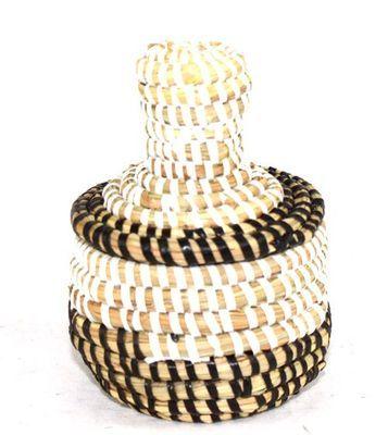 boîte bijoux en paille tressée 1685-A