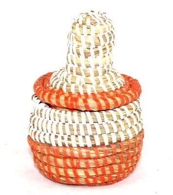 boîte bijoux en paille tressée 1686-A