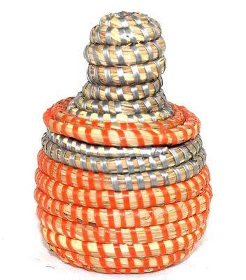 boîte bijoux en paille tressée 1688-A