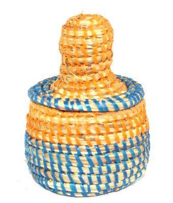 boîte bijoux en paille tressée 1693-A
