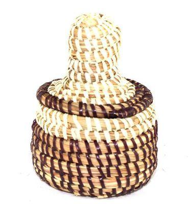 boîte bijoux en paille tressée 1697-A