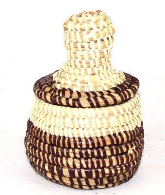 boîte bijoux en paille tressée 1703-A