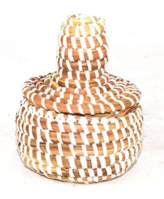 boîte bijoux en paille tressée 1707A